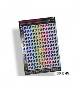 Poster 30x45cm Tabla de las Pinturas Candys