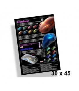 Poster 30x45cm Efectos Cristales y Marmol