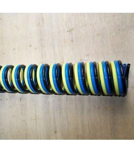 Tubos simples, dobles y triples en forma de espiral