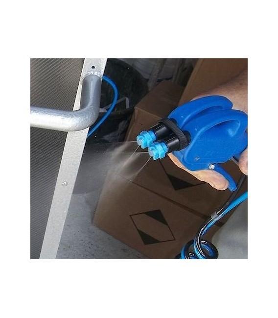 Pulverizador con doble conducto de plástico para plateado
