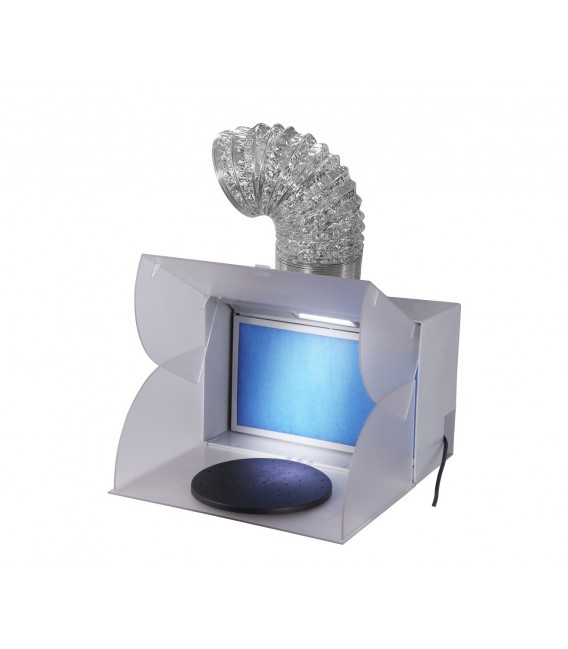 Minicabina de pintura con bandeja que gira