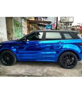 Recubrimiento Cromado Azul calidad premium OEM automóvil- rodillo 1,52 m x 18 m