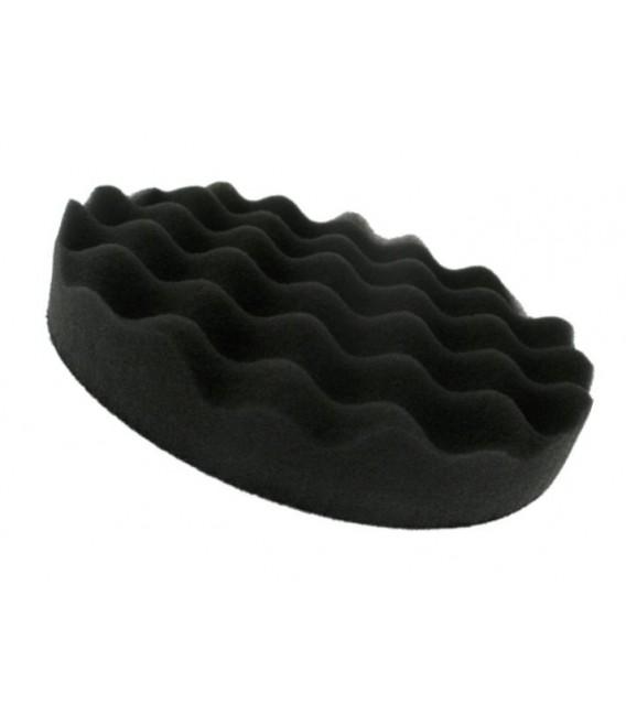 Espuma de lustrado negra ondulada 15 cm