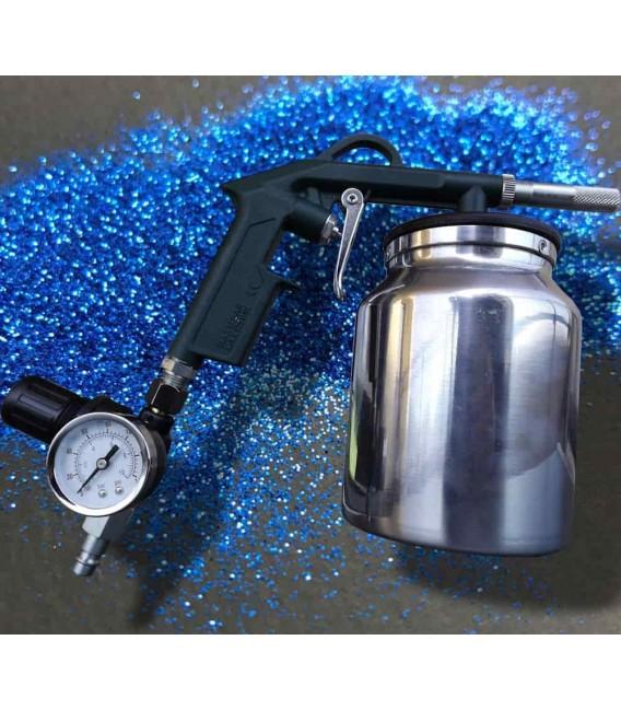 Pistola de chorro de arena de alto rendimiento con manómetro para regular la presión