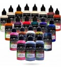 Serie Camaleón - 20 pinturas Stardust® acrílicas-PU para aerógrafo
