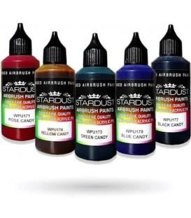 Serie Candy - 5 colores transparentes Acrílicos-PU para aerógrafo
