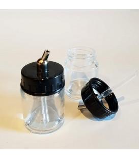 Botes de succión de cristal 16 ml para aerógrafo