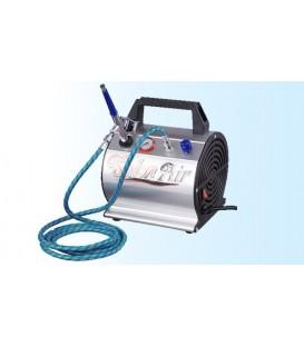Kit completo - Compresor, aerógrafo, manguera de aire