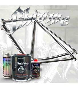 Pintura efecto cromo para bicicleta – kit completo de color a elegir
