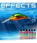 Efectos especiales y aditivos para pintar señuelos